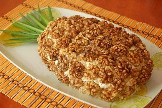 новогодний салат ананас рецепт
