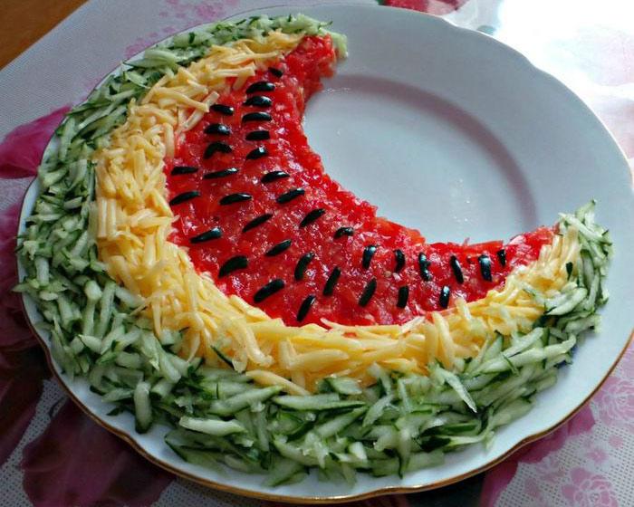 салат арбузная долька рецепт приготовления