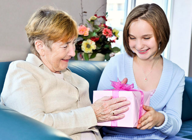 Подарок на Новый год бабушке