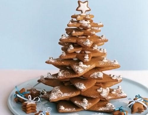 Новогодняя елка из имбирного печенья