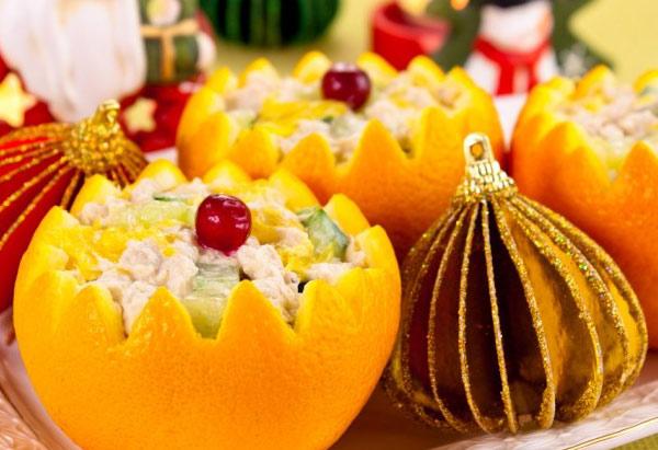 салат в апельсине фото рецепт
