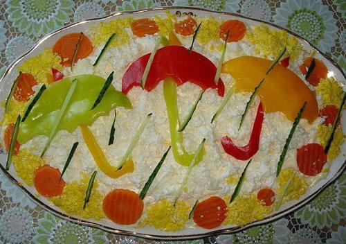 Украшения из оливой на новогодние салаты