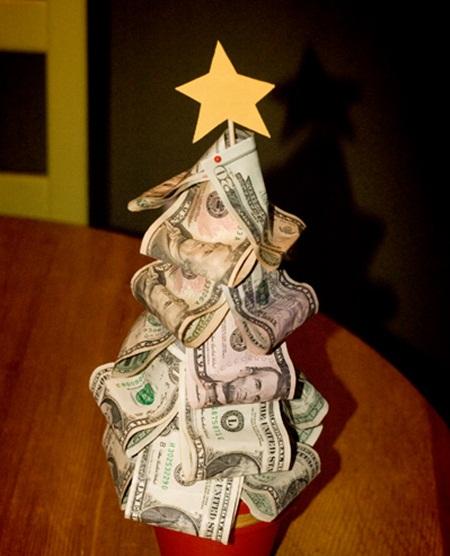 Сделать елку из денег своими руками