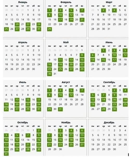 Календарь венчаний в 2016 году