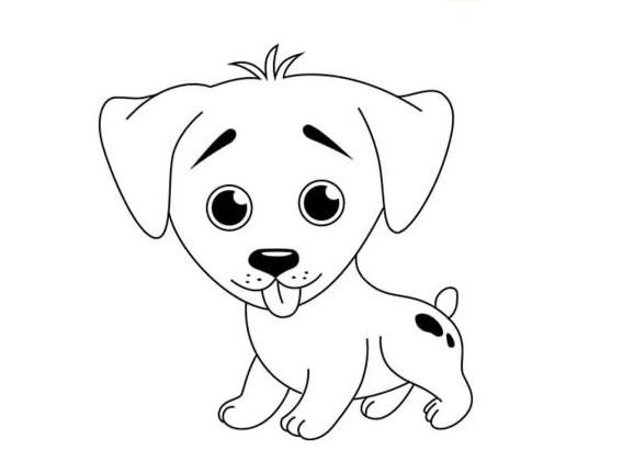 рисунок маленькой собаки
