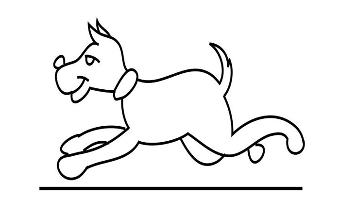 рисунок собака бежит