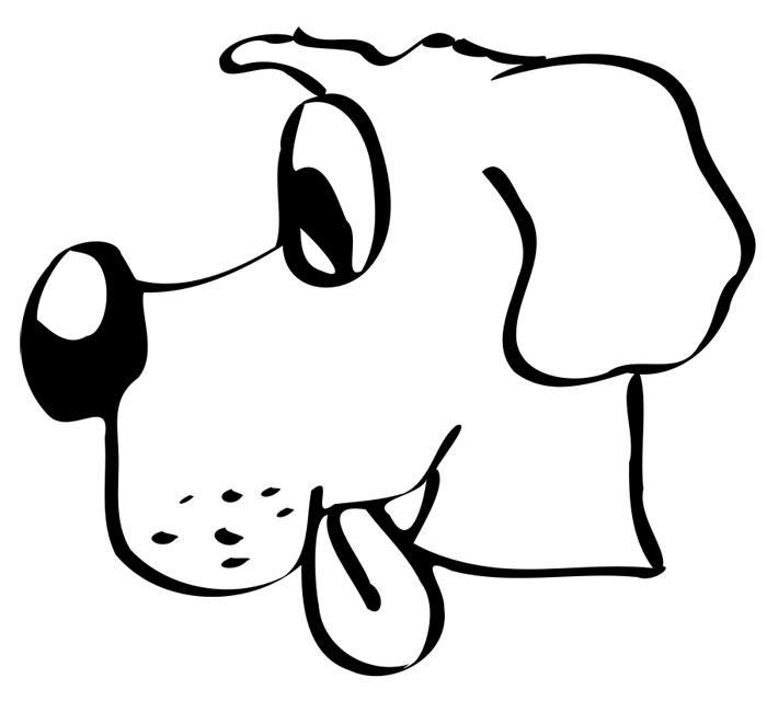 рисунок мордочки собаки