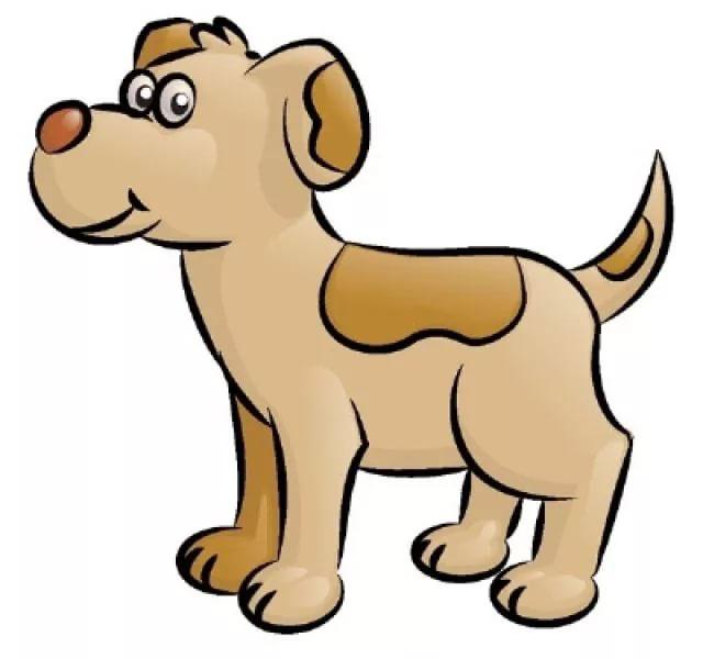 как нарисовать собаку боком