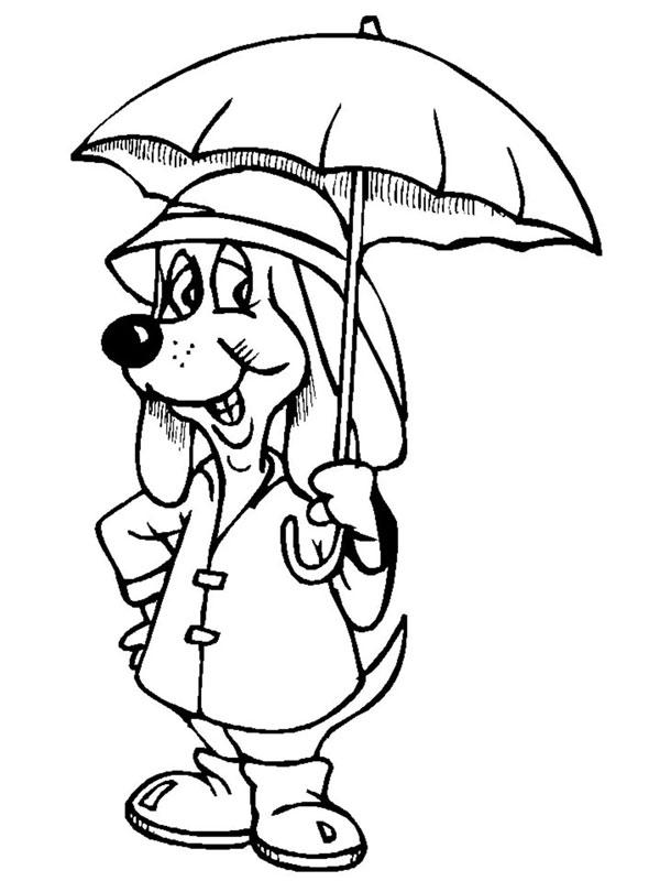 рисунок собака в одежде