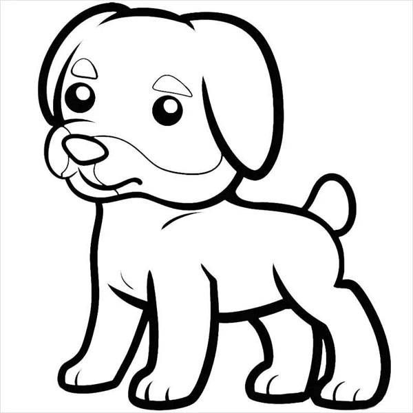 рисунок собаки черно белый