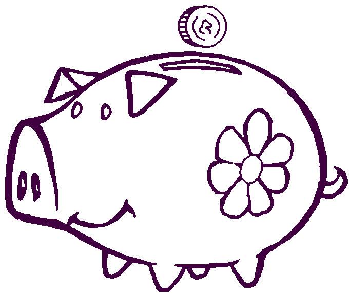 Рисунок свинья копилка