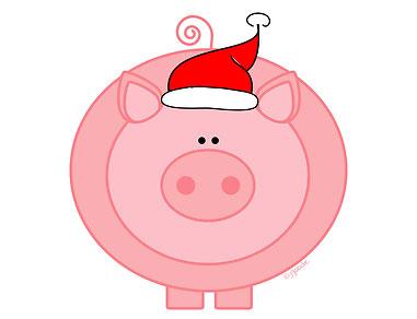 как нарисовать жирную свинью