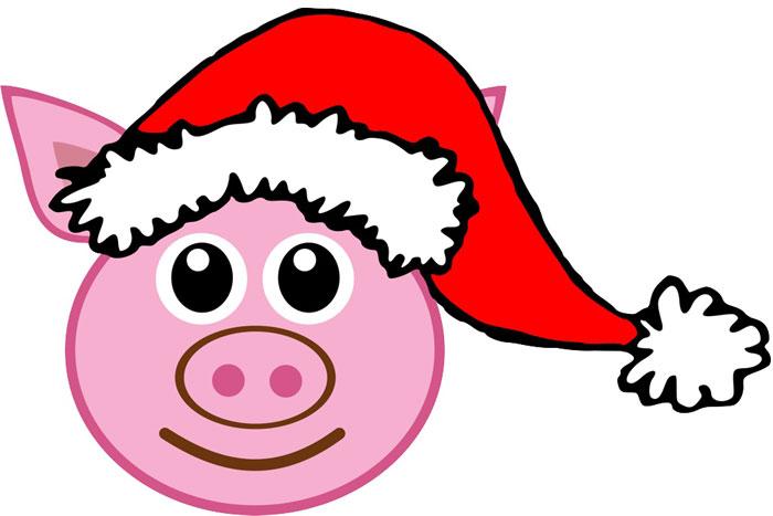 как нарисовать голову свиньи