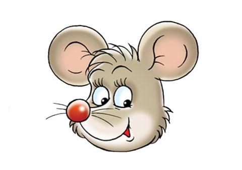 как нарисовать мордочку мышки