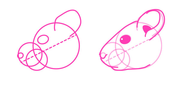 Голова мыши поэтапно