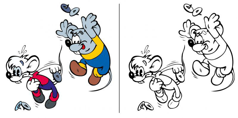 как нарисовать мышей из кота леопольда