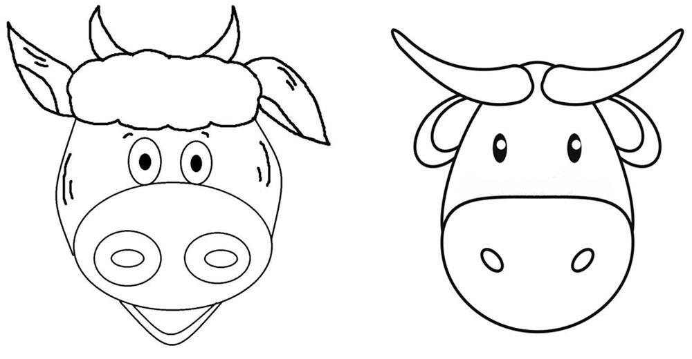 Простые рисунки головы быка