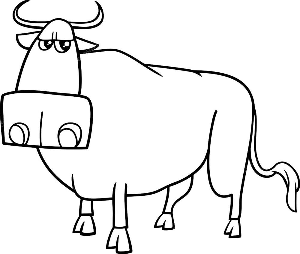 Как рисовать быка