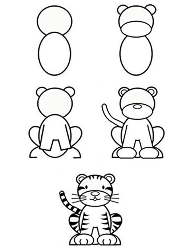 Рисунок Тигра для начинающих