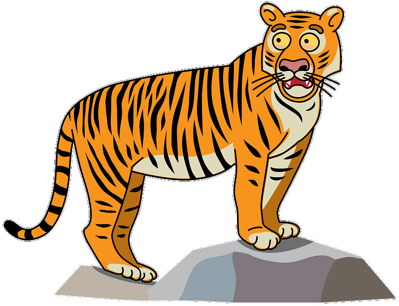 Удивленный тигр