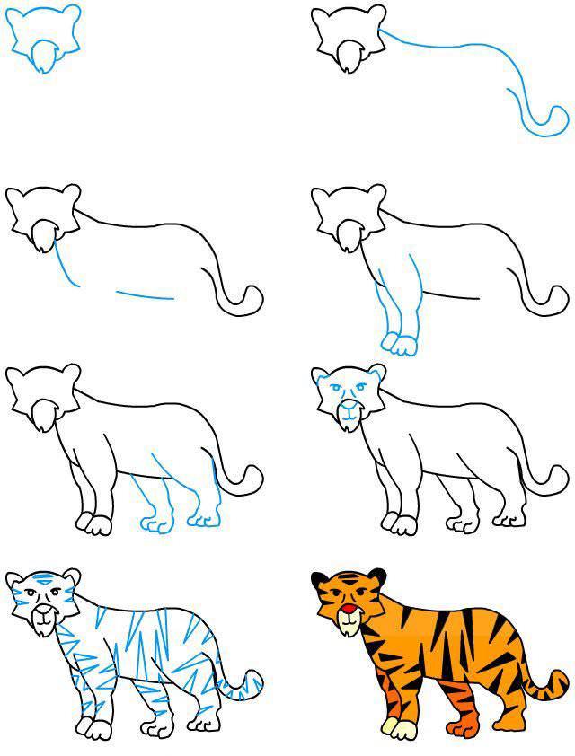 Простой рисунок Тигра