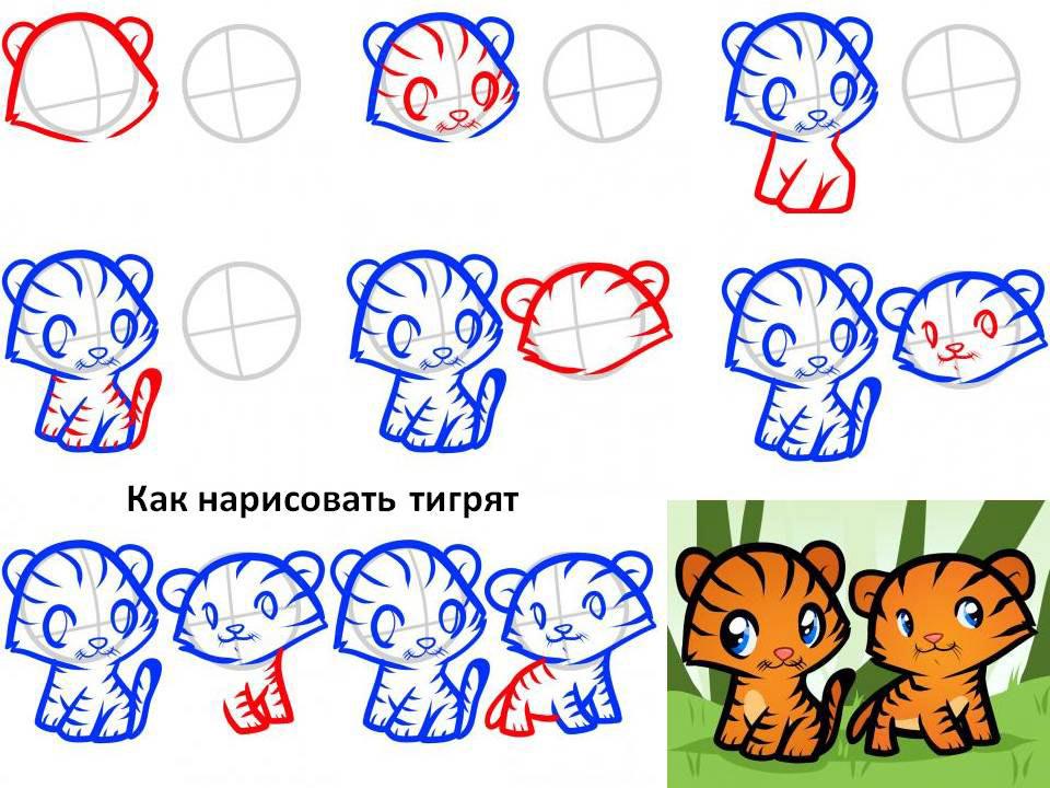 Тигрята из мультиков